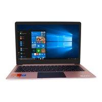 "EVOO 14"" Ultra Thin Laptop - Elite Series, FHD, 4GB Memory, 32GB Storage, Fingerprint Scanner, Front Camera, Micro HDMI, Windows 10 Home"