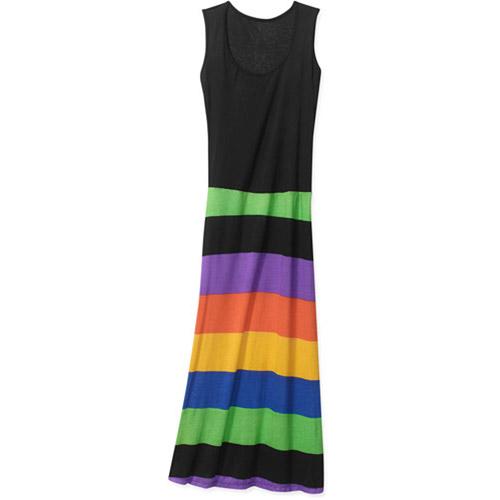 Women's Sleeveless Candy Stripe Dress
