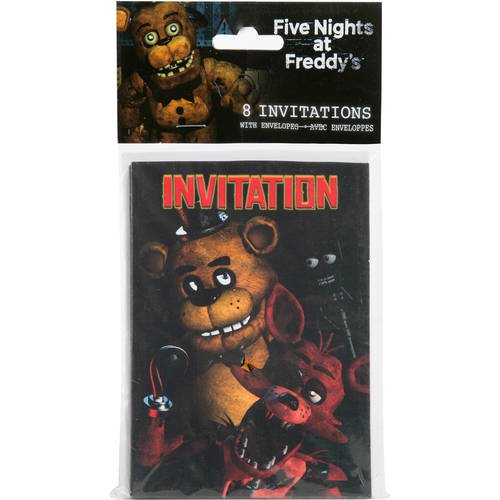 Five Nights At Freddys Invitations 8ct