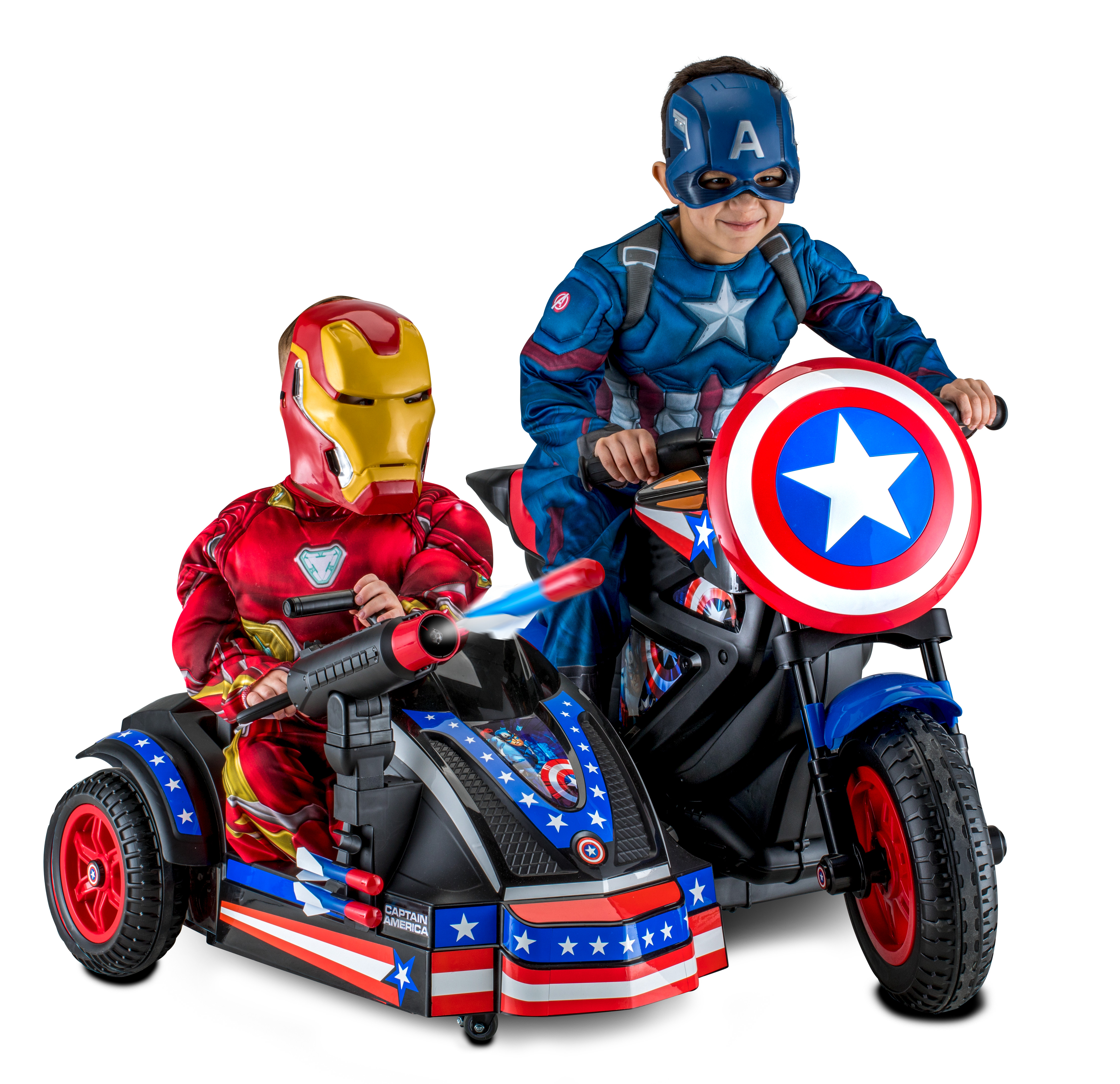 Kid Trax 12-Volt Captain America Motorcycle Ride-On