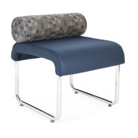 OFM Uno Series Model 421 Pillow Back Seat, Polyurethane, Navy with Blue Jay