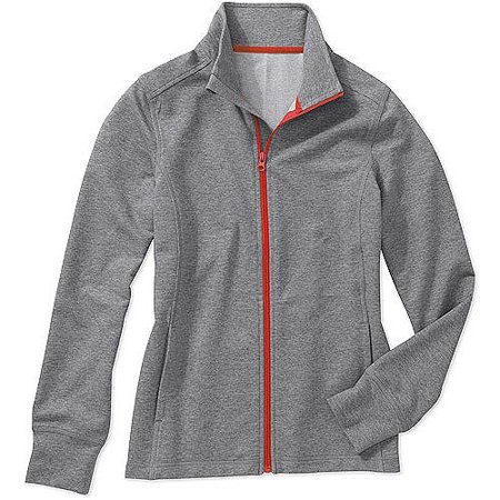 b20e34b34b824 Danskin Now - Danskin Now French Terry Zip Up Active Jacket - Walmart.com