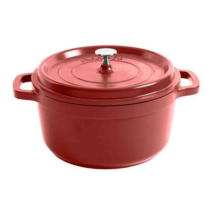 Crock Pot Edmound Cast Aluminum 5 Qt Dutch Oven W/Lid - Gradient Red