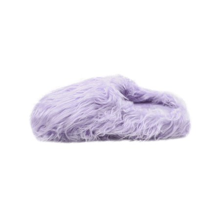 LAVRA Women's Fuzzy Fur Covered Slip On Slippers