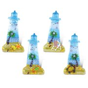 Puzzled Lighthouse Refrigerator Silver Beach Magnet - Lighthouses Theme - Set of 4 - Unique Affordable Gift and Souvenir - Item #7687