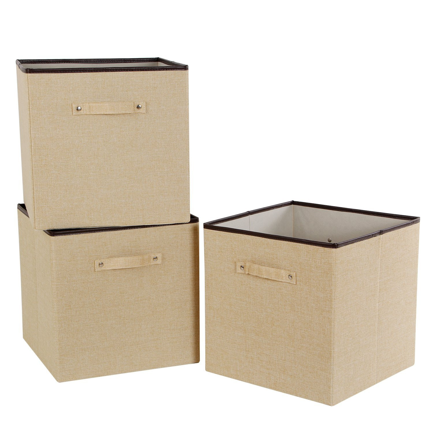 Lifewit 3pcs Storage Box Foldable Cube Basket Fabric Storage Cubes  Container Bins Organizer Large
