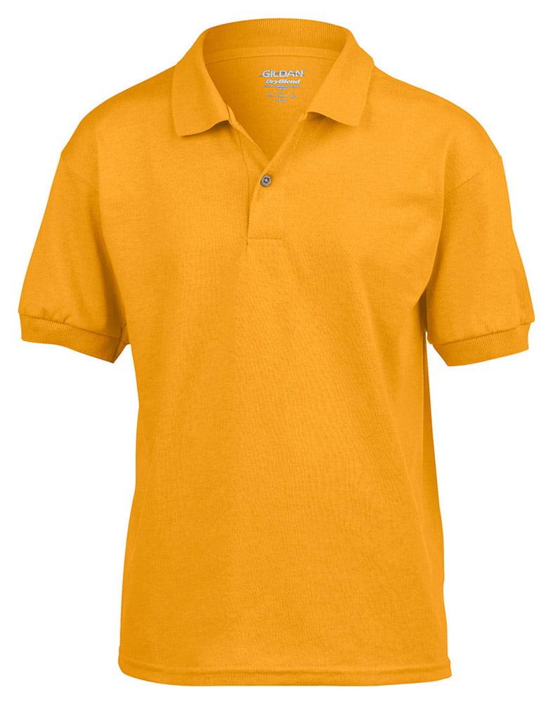 Gildan 8800B DryBlend Youth Polo Shirt -White-Small