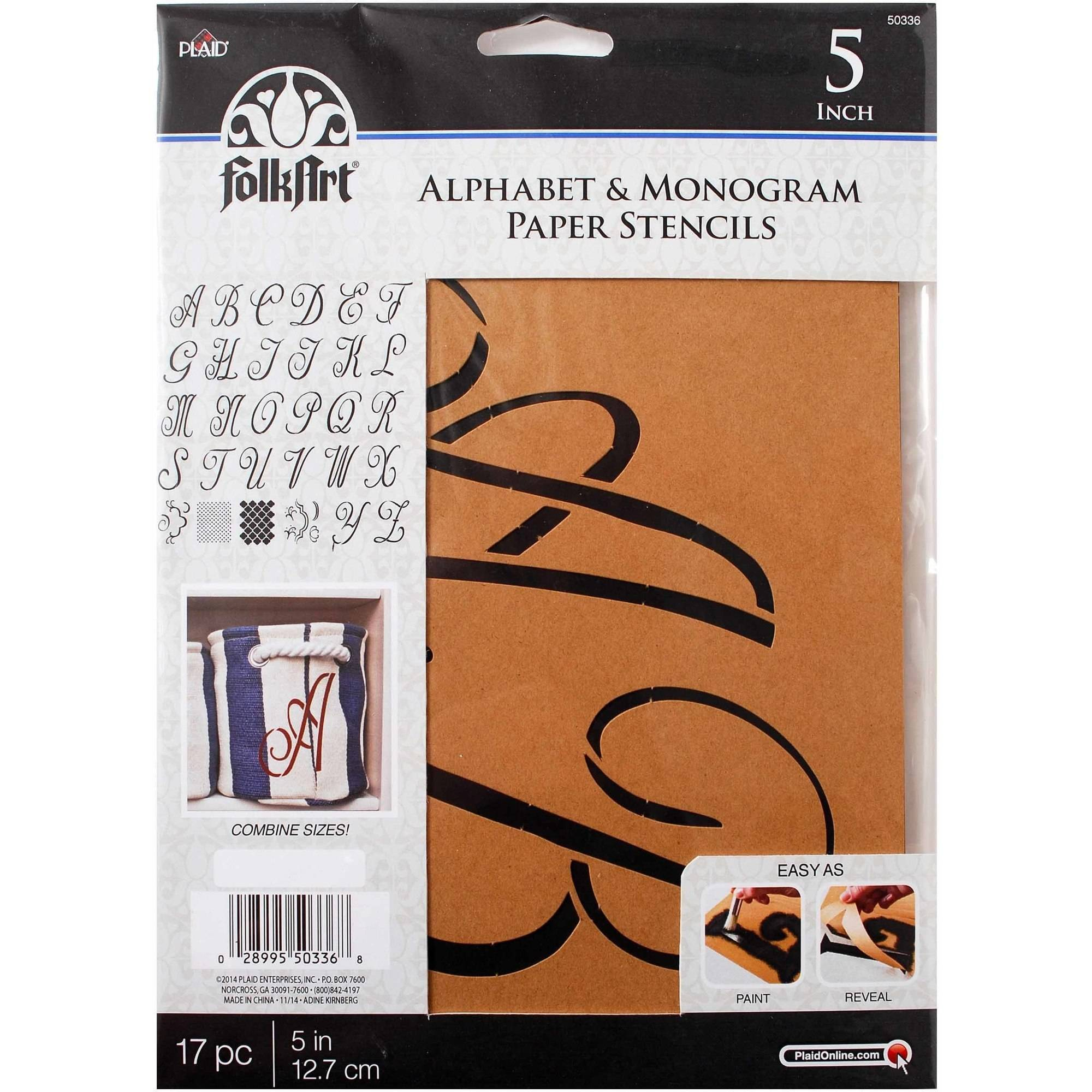 FolkArt Alphabet and Monogram Paper Stencils