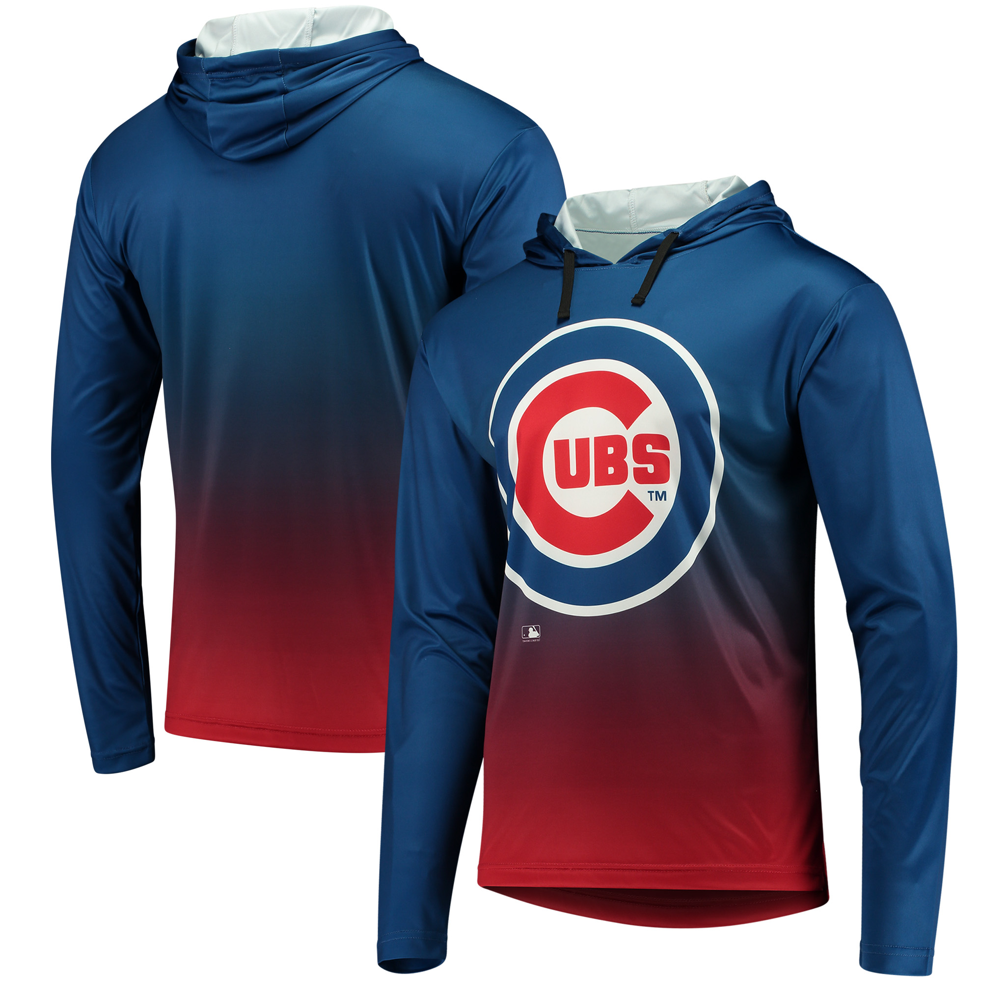 Chicago Cubs Gradient Pullover Hooded Sweatshirt - Royal