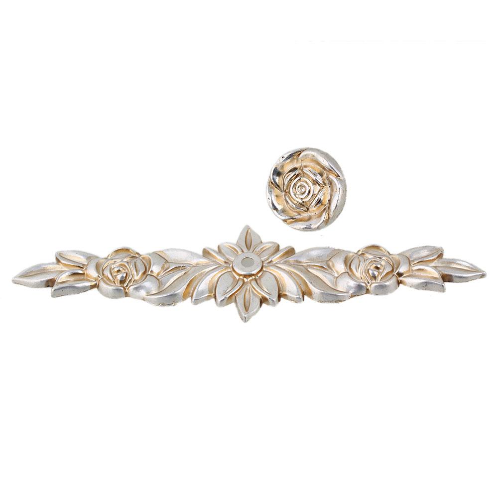 BQLZR 168MM Zinc Alloy Silver Rose Flower Cabinet Drawer Wardrobe Pull Handle Door Knob Vintage Style