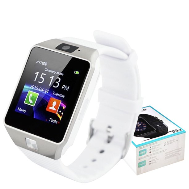 DZ09 White Bluetooth Smart Wrist Watch Phone mate for Android Samsung HTC LG Touch Screen with Camera