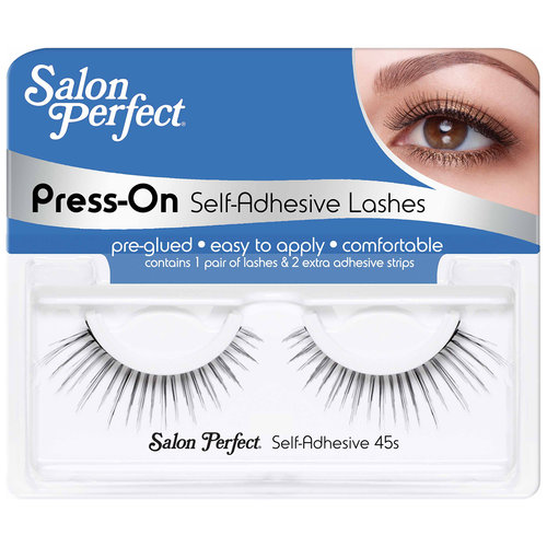 Salon Perfect Press-On Self-Adhesive False Eyelashes, 45S, 1 pr