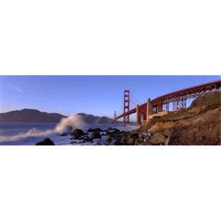 Panoramic Images PPI43524L Bridge across the bay  San Francisco Bay  Golden Gate Bridge  San Francisco  Marin County  California  USA Poster Print by Panoramic Images - 36 x 12