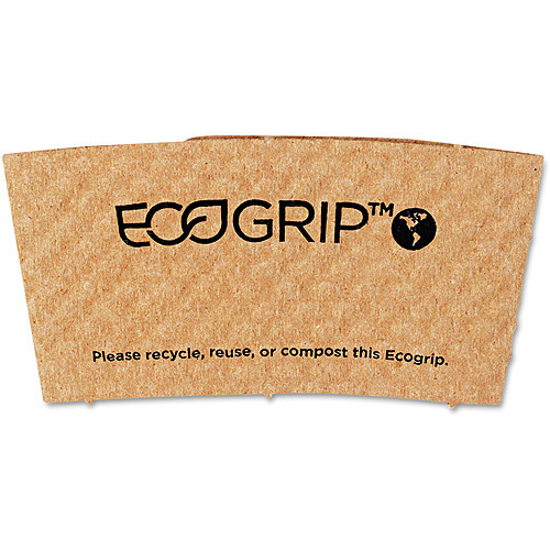 Eco-Products EcoGrip Renewable Resource Compostable/Recyclable Hot Cup Sleeve, 1300ct