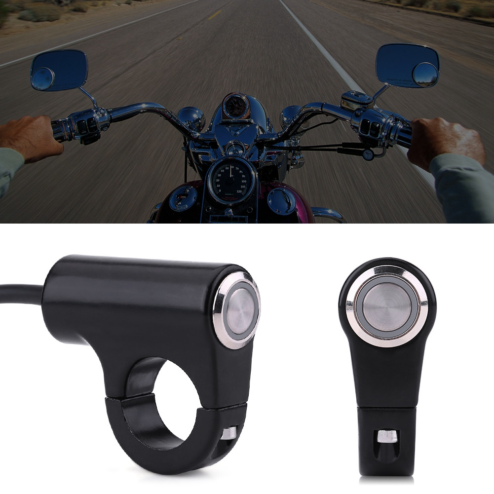 Handlebar ON//OFF Switch Automatic Return Button Model B Motorcycle Handlebar Switch Model A Model B or ON//OFF Button with Indicator Light Fits for 7//8inch Handlebar Motorcycles 22mm