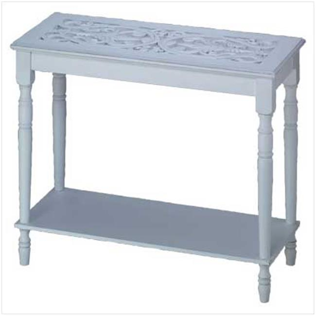 SWM 34709 Intricately Carved-Top Table