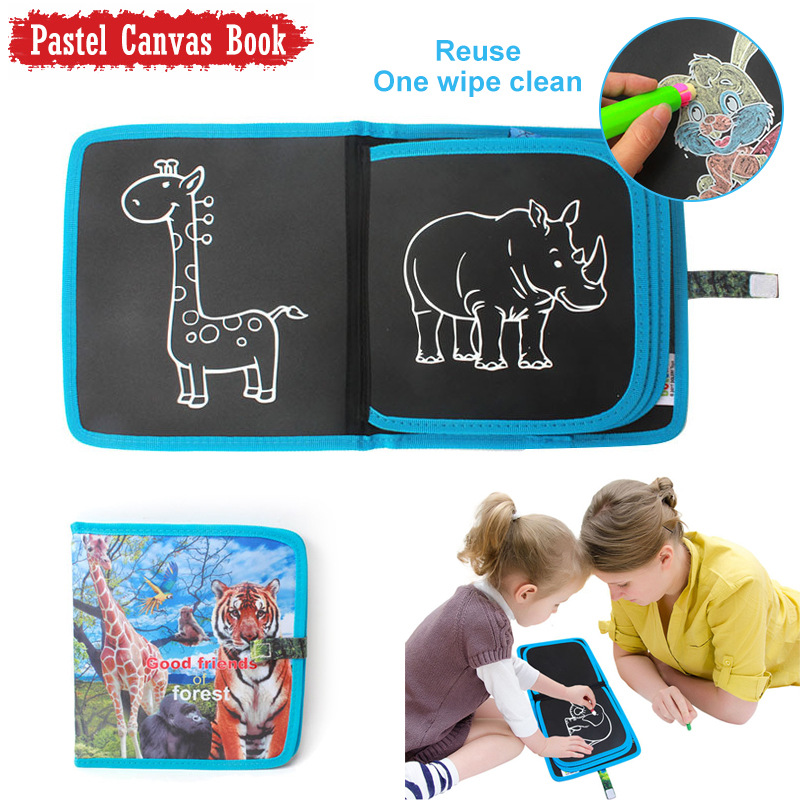 Dinnosaur Erasable Drawing Pad Toys Portable Writing Board for Kids Toddlers Boys Girls Gift Age 3 4 5 6 7 8 Year Old -Best Childrens Day Gift Road Trip Car Travel Airplane Activities Game