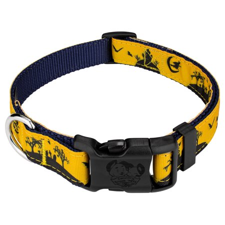 Country Brook Design® Deluxe Halloween Night  Ribbon Dog Collar Limited - Brookings Halloween