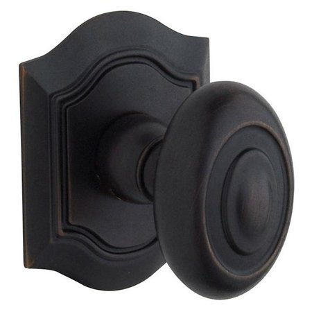 Baldwin 5077402MR Bethpage Estate Door Knobs without Rosettes - Distressed Oil-rubbed Bronze