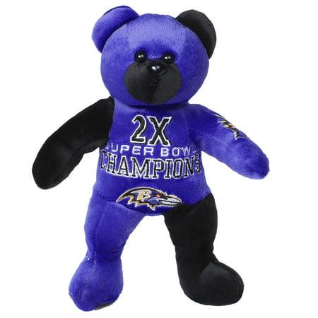 Baltimore Ravens 2-Time Super Bowl Champions Commemorative Thematic Plush Bear - No Size Baltimore Ravens Super Bowl Champions