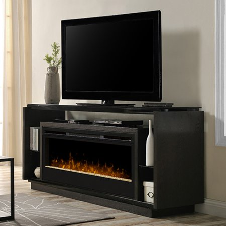 Dimplex David Media Console Electric Fireplace With Acrylic Ember Bed, Smoke ()