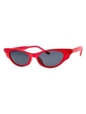 "A.J. Morgan Women's ""Hot Lips"" Sunglasses in Red- Cat-Eye Mini Sunglasses"