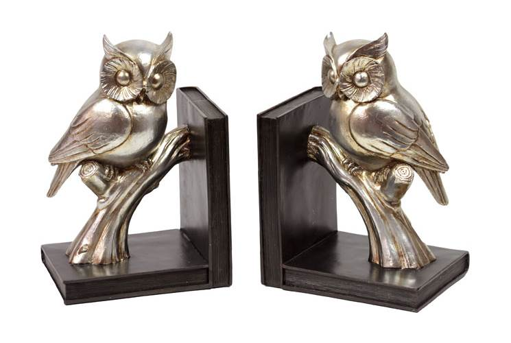 2-Pc Owl On A Branch Bookend Set by Urban Trends Collection