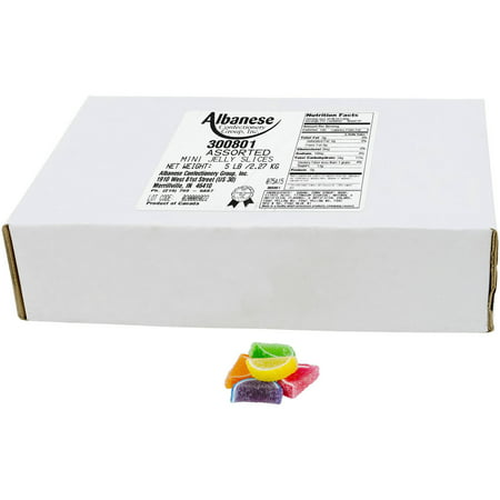 Image of Albanese Confectionery Assorted Mini Fruit Slices, 5 lbs