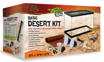 Zilla Desert Reptile Starter Tank Kit 10 Gallon by CENTRAL GARDEN & PET COMPANY