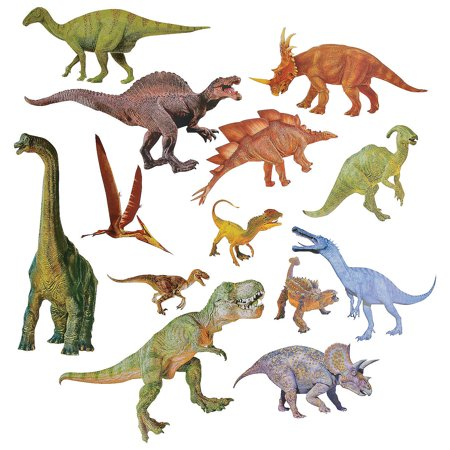Fun Express - Jumbo Dinosaur Cutouts - Educational - Classroom Decorations - Bulletin Board Decor - 13 Pieces