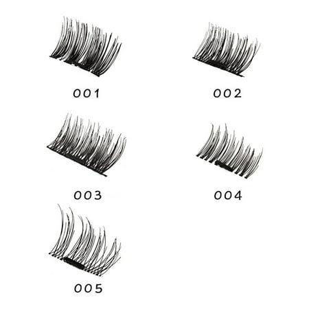 3D Magnetic Eyelash Glue Free Eyelashes 4 Pieces Recycle DIY False Eyelashes - image 4 de 7