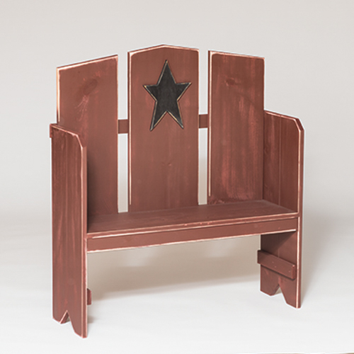 Furniture Barn USA™ Primitive Rustic Country Style Porch Bench