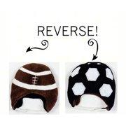 LCKDWSFS Football/Soccer Reversible Kid's Winter Hat Small