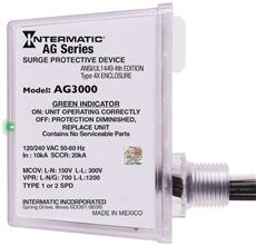 Intermatic Ag Series Whole House Surge Protective Device, 120/240 Vac, 4X Enclosure, Type 1 Or Type 2 - 3 Phase Power Enclosure