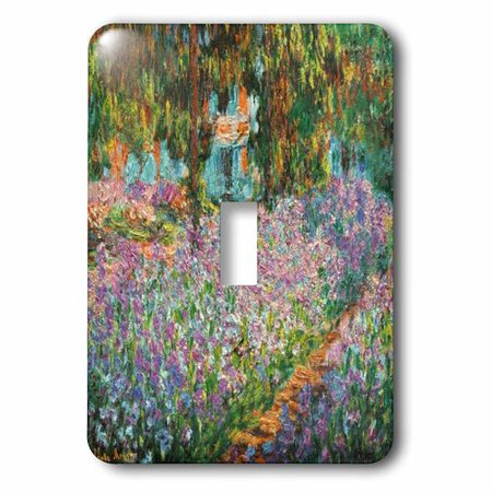 - 3dRose Print of Monet Painting Irises In Garden, Single Toggle Switch
