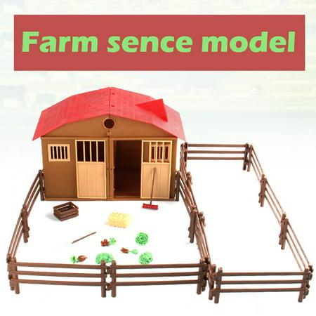 Simulated Playing Model Farm House 2019 hotsales Children Play House Animal Model Scene ()
