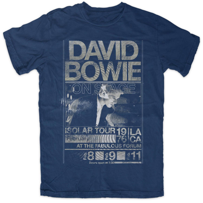 David Bowie Men's 1976 Isolar Tour Graphic Tee