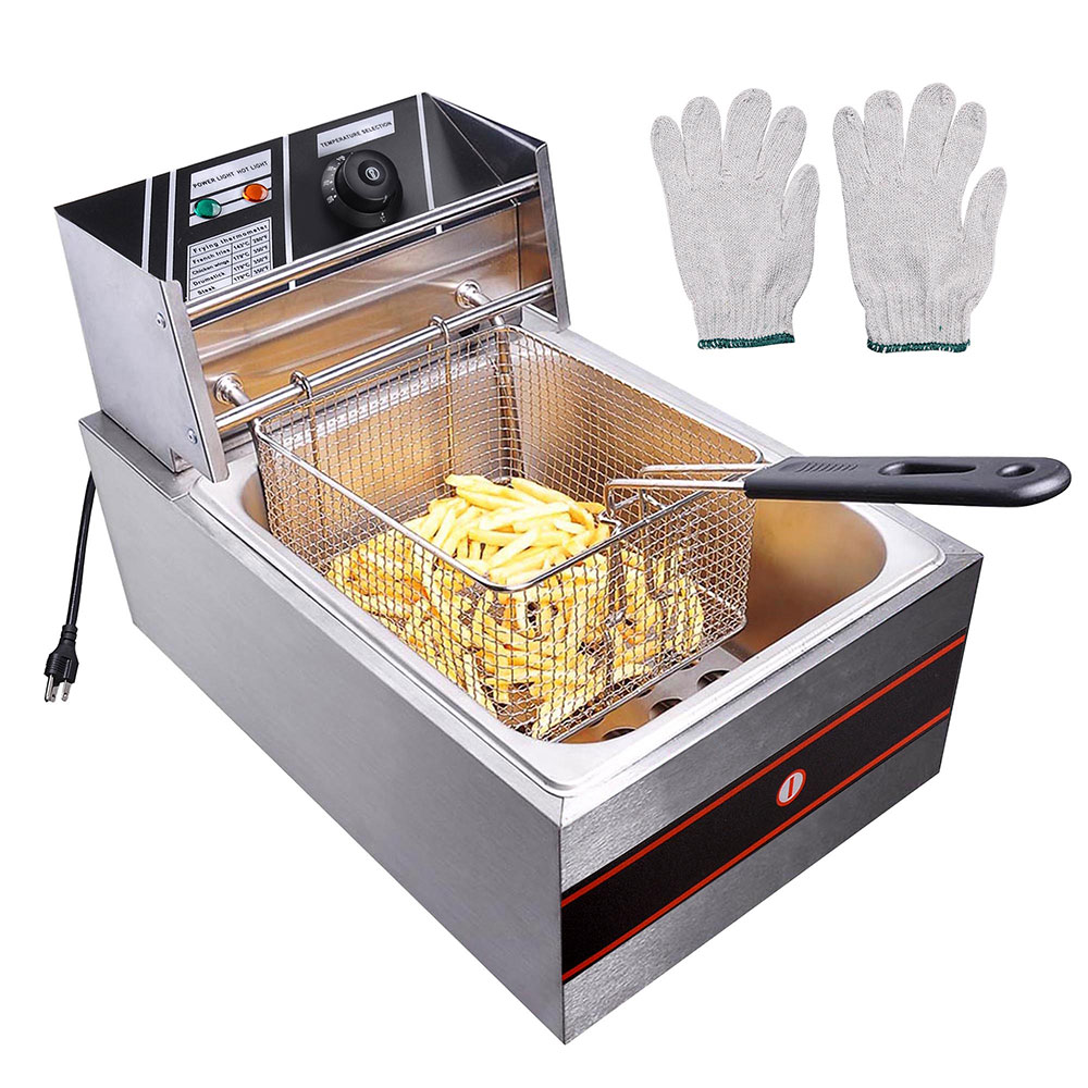 2500W 6L Electric Commercial Deep Fryer French Fry Countertop Restaurant Kitchen