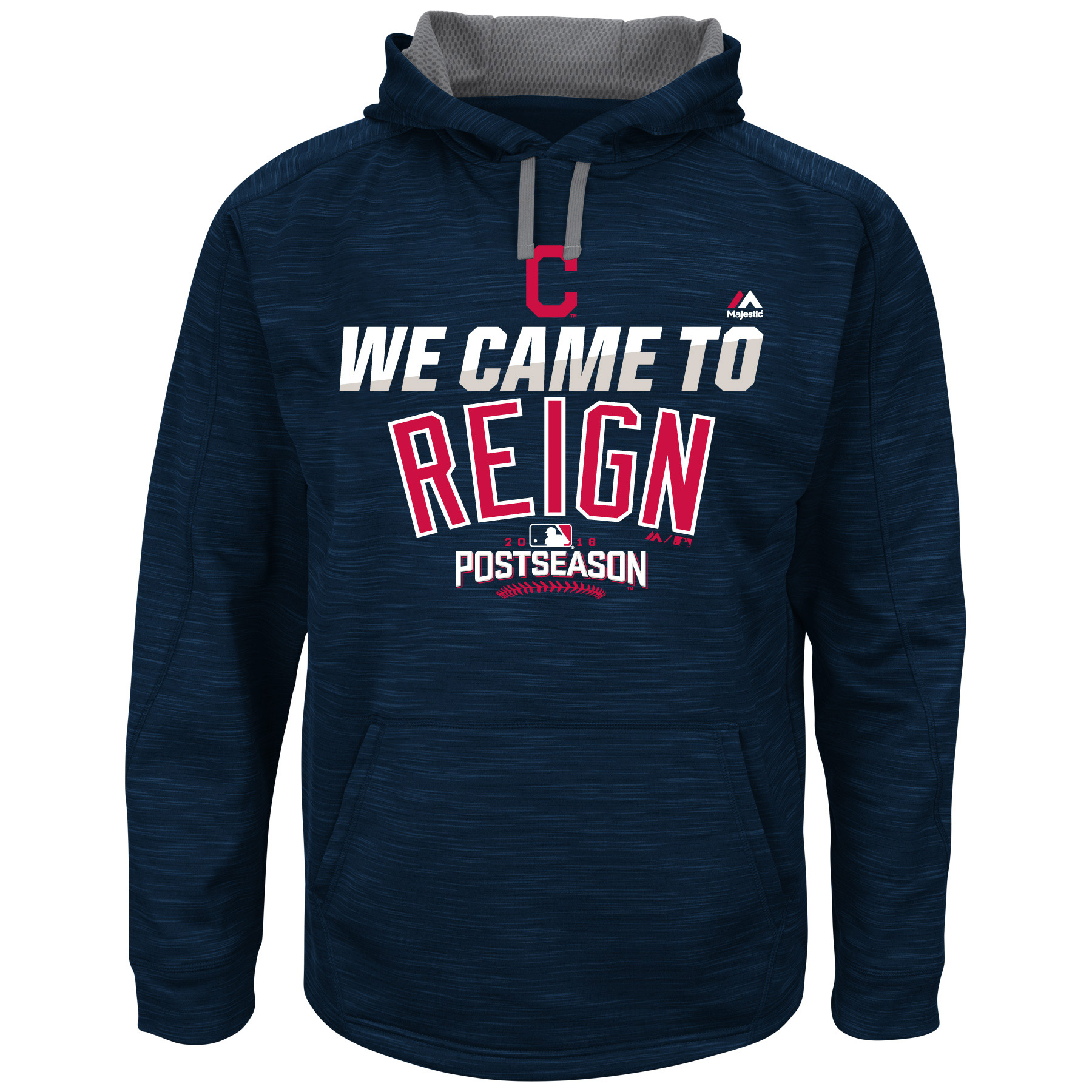 Cleveland Indians Majestic Big & Tall 2016 Postseason Authentic Collection We Came To Reign Streak Hoodie - Navy