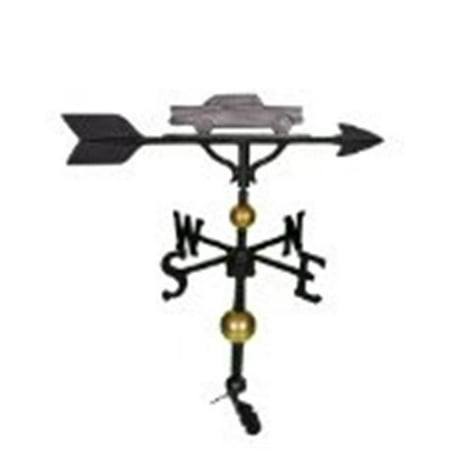 Montague Metal Products WV-313-SI 300 Series 32 In. Deluxe Swedish Iron Classic Car Weathervane