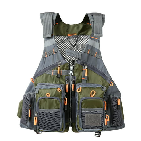 - ​Lixada Outdoor Fishing Vest Pack Multi Pocket Breathable Mesh Fishing Vest Waistcoat Jacket Coat Unpadded