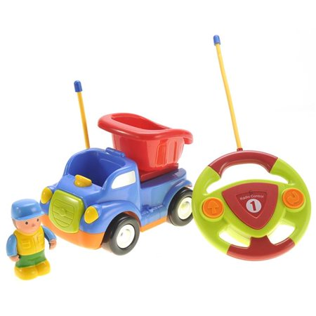 Cartoon Remote Control Construction Car for Kids - Blue - image 1 of 1
