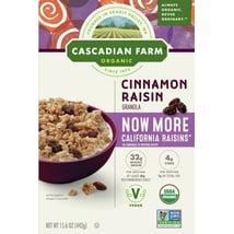 Breakfast Cereal: Cascadian Farms Cinnamon Raisin