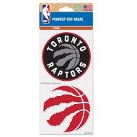 "Toronto Raptors WinCraft 4"" x 4"" Perfect Cut 2-Pack Car Decal Set"