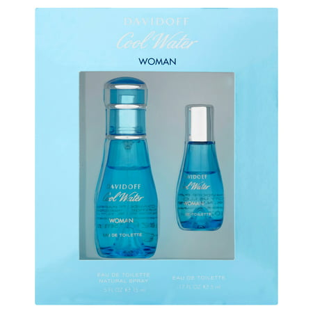 Davidoff Cool Water Eau De Toilette Perfume Spray, 2 Ct