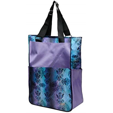 glove it women's tennis tote bag big fashion tote bag for women - womens large tote bags with zipper & shoulder strap - 6 outside pockets - ladies sport totes - 2019 lilac (Best Tennis Bags 2019)