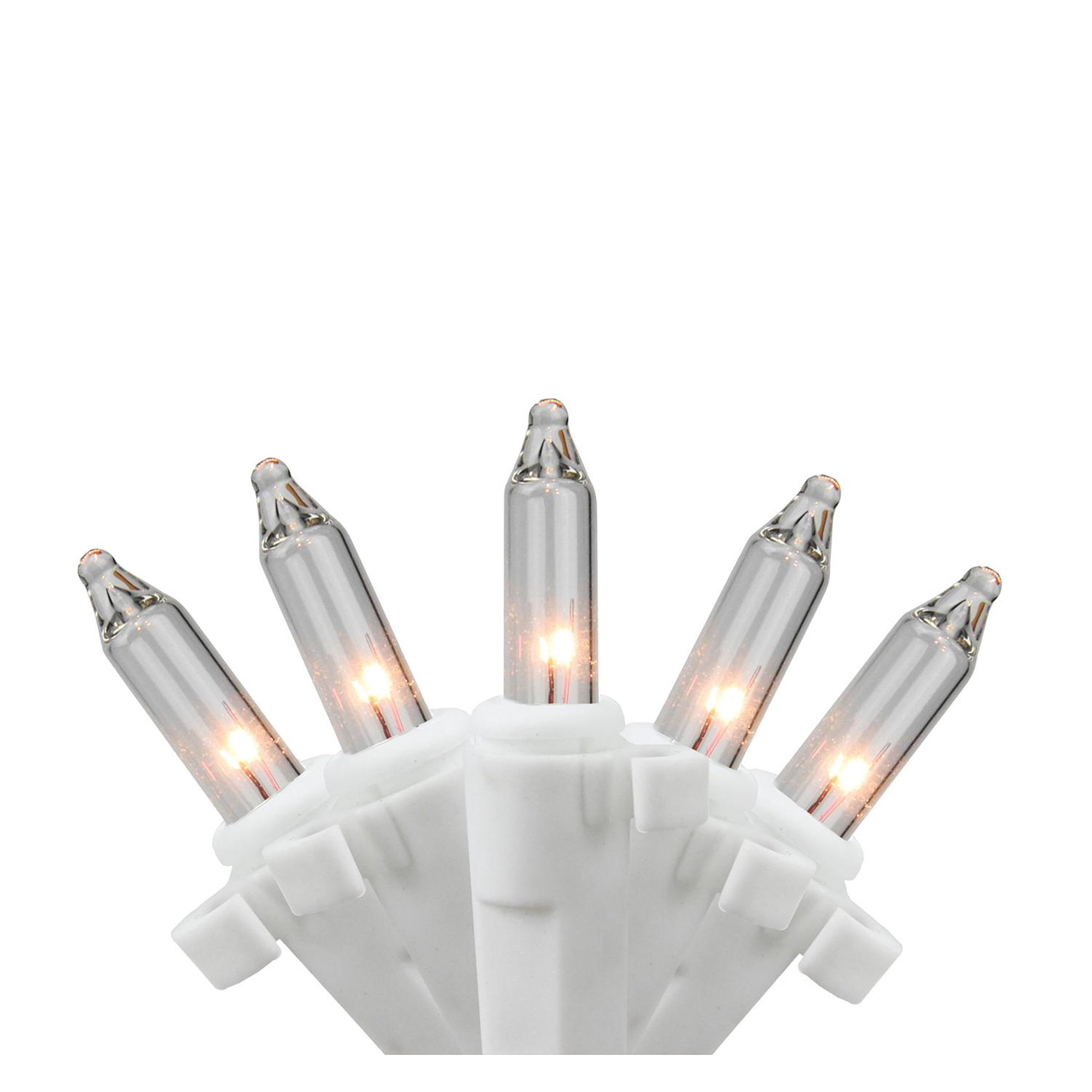 Replacement Christmas Bulbs.50 Clear Mini Replacement Christmas Lights With Clips For Outdoor Decorations