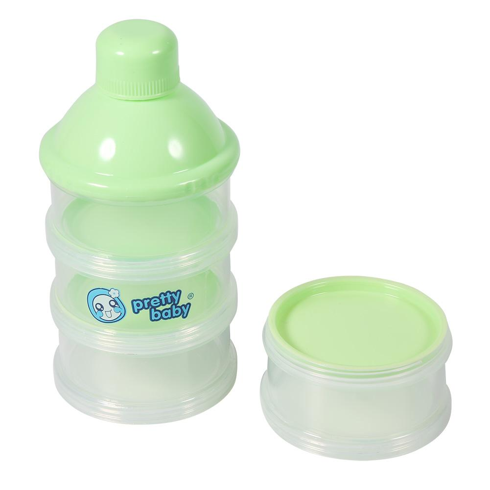 4 Layers Portable Infant Baby Milk Powder Formula Dispenser Multi-function Snack Pot Feeding Case
