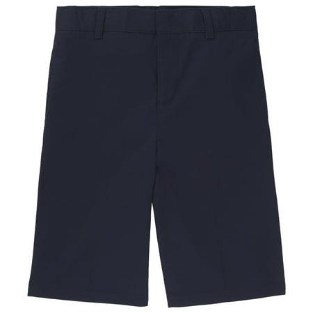 French Toast School Uniform Adjustable Waist Twill Flat Front Short (Little Boys & Big Boys)