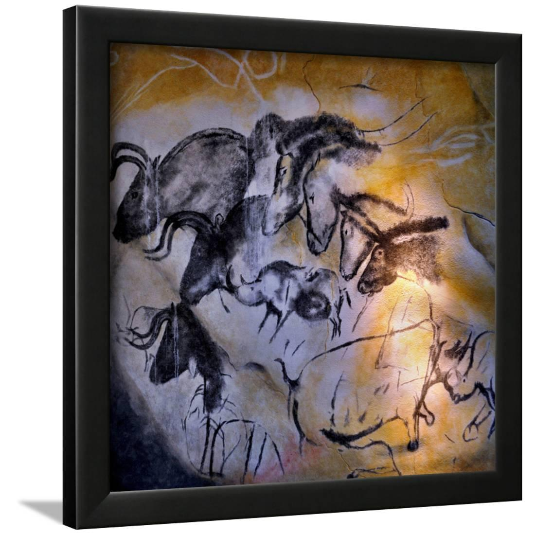 Painting in the Chauvet Cave, 32,000-30,000 Bc Framed Print Wall Artwork by Art.com